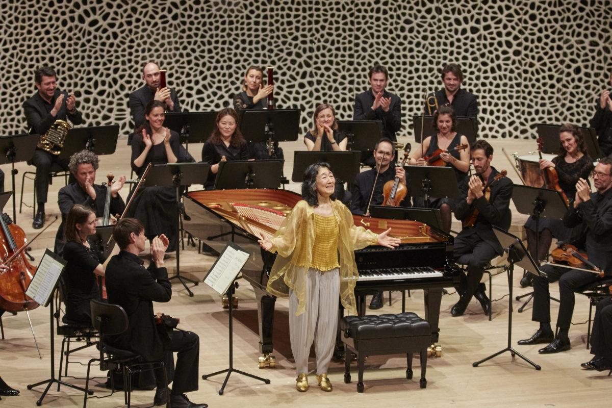 Mitsuko Uchida, Mahler Chamber Orchestra, Mozart, Barók,  Elbphilharmonie Hamburg