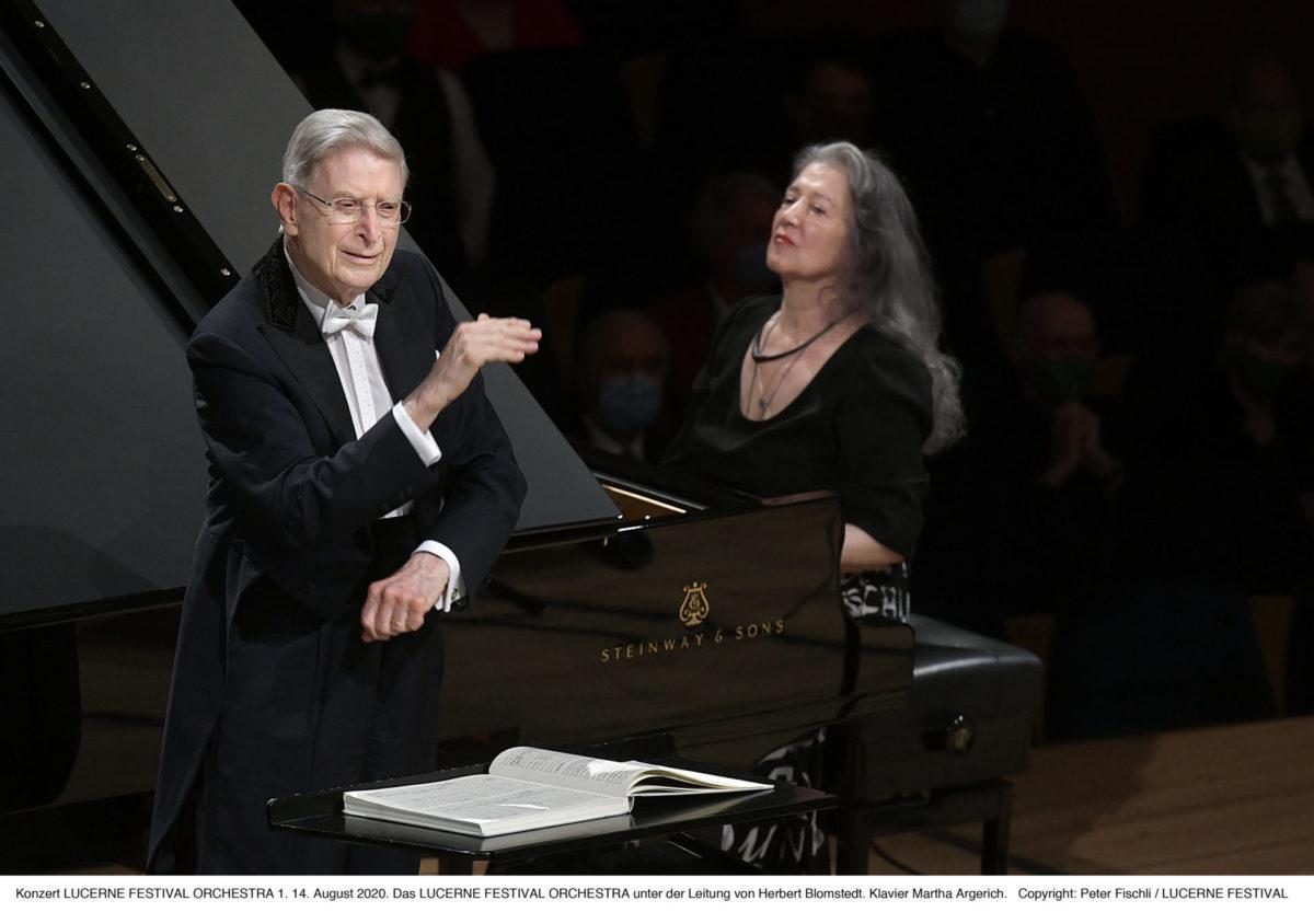 Martha Argerich, Herbert Blomstedt  Lucerne Festival, 14. August 2020