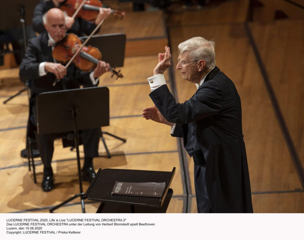 Blomstedt und Beethoven: Zwei alte Meister in Luzern,  Lucerne Festival, 15. August 2020