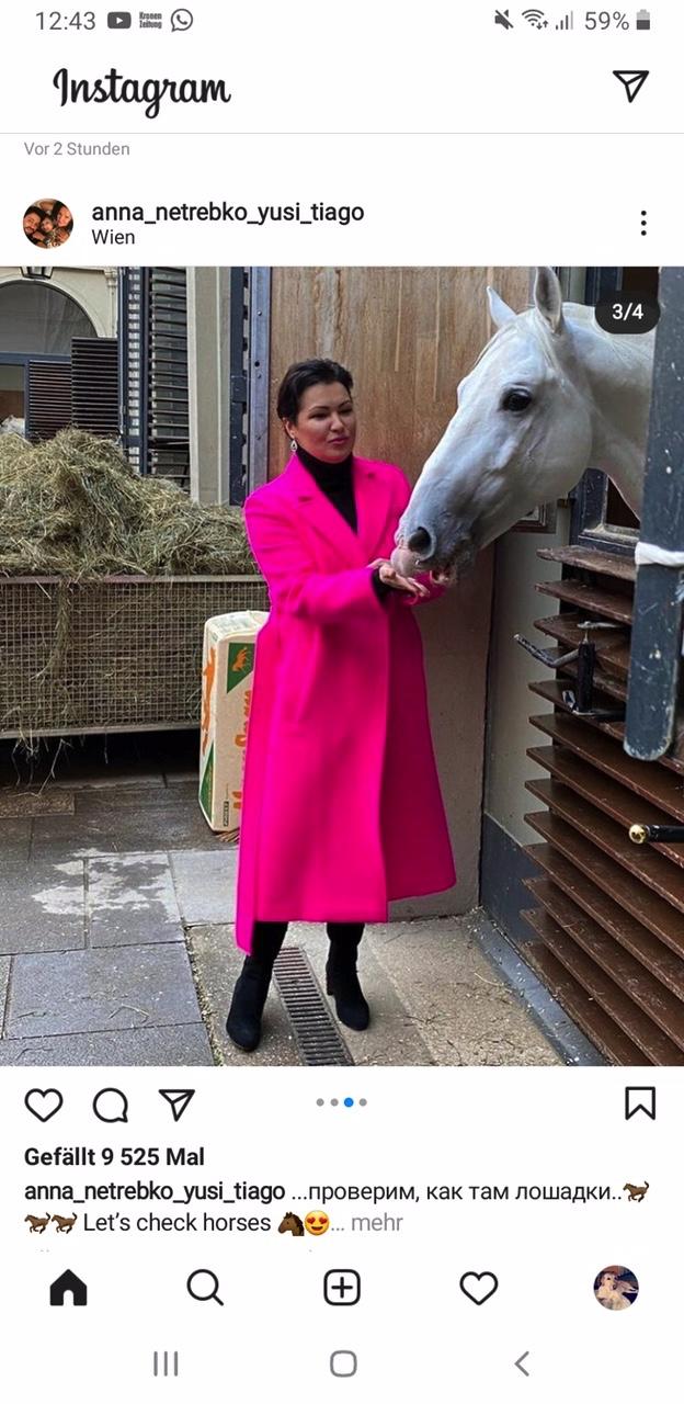 Anna Netrebko live aus Wien am 6. Februar 2021  Spanische Hofreitschule Wien