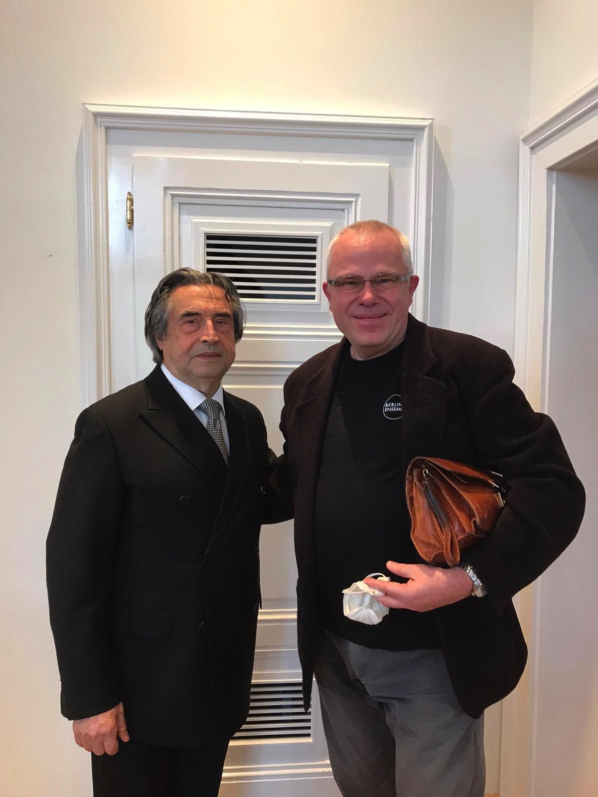 Wiener Philharmoniker, Riccardo Muti  Tourneeprobe am 7. Mai 2021 im Wiener Musikverein
