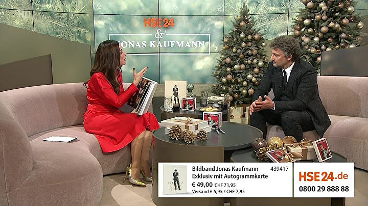 Weihnachts-Satire: Jonas Kaufmann zu Gast im Verkaufkanal HSE24  klassik-begeistert.de