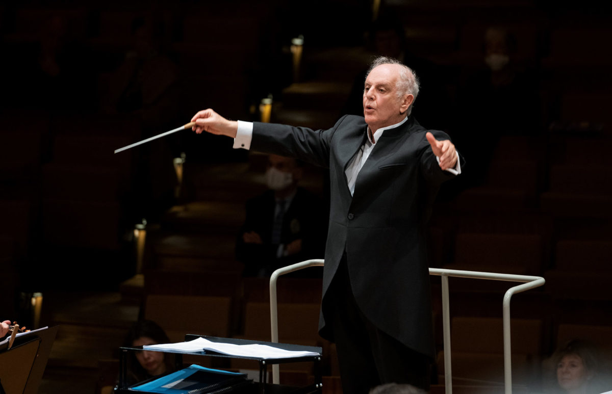 Berliner Philharmoniker, Daniel Barenboim,  Philharmonie Berlin, 22. Oktober 2020