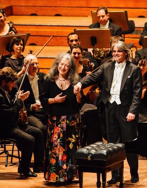 Symphoniker Hamburg, Martha Argerich, Ion Marin,  Laeiszhalle Hamburg, Großer Saal, 20. Januar 2019