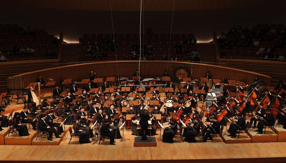 Pang Kapang,Zhu Changyao, Kang Qiaoxuan,Suzhou Chinese Orchestra, Brüssel, 21. Januar 2019