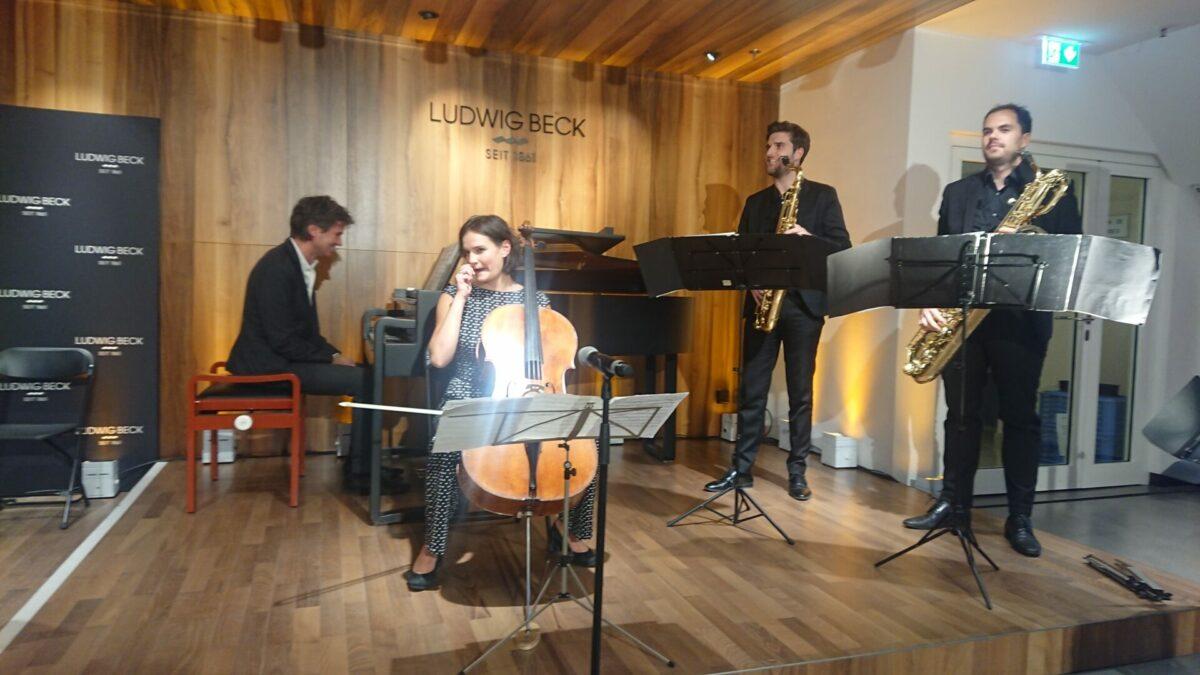 CD Live Präsentation, Imagination von Raphaela Gromes, Kaufhaus Beck, 23. Oktober 2021