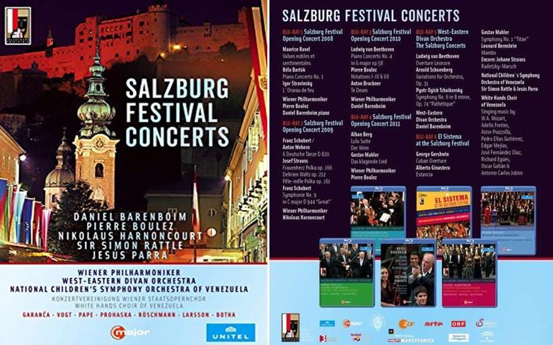 Salzburger Festspielkonzerte / Salzburg Festival Concerts, 6 DVD im Schuber Unitel/Cmajor (Vertrieb Naxos) – Rezension