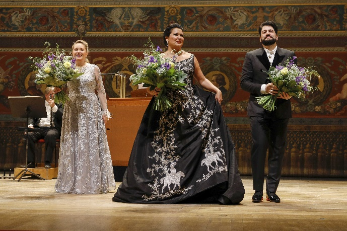 Konzertante Höhepunkte aus Giuseppe Verdis 'Don Carlo', Anna Netrebko, Yusif Eyvazov  Semperoper Dresden, Aufklang,21. Juni 2020