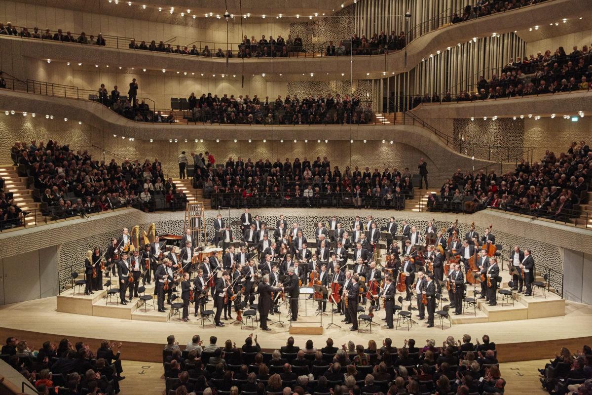 Wiener Philharmoniker, Ingo Metzmacher, Gerhild Romberger, A. Webern, K. A. Hartmann, D. Schostakowitsch,  Elbphilharmonie Hamburg