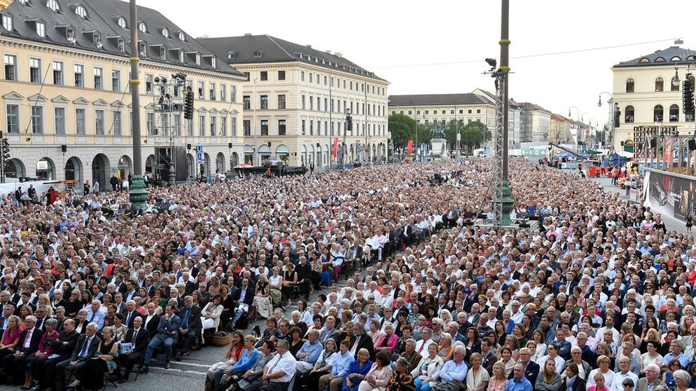 Klassik am Odeonsplatz 2018, Diana Damrau,  Odeonsplatz, München